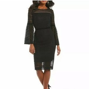Antonio Melani Alfa Lace Bell-Sleeve Black Dress